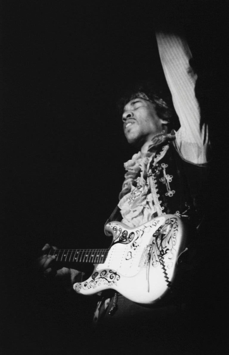 Colin Beard Black and White Photograph - Jimi At Monterey #21