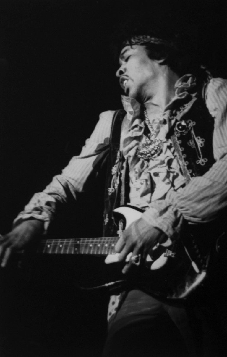 Colin Beard Black and White Photograph - Jimi At Monterey #31