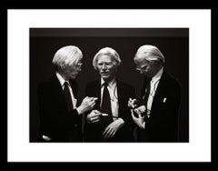 Andy Warhol Signing, B&W