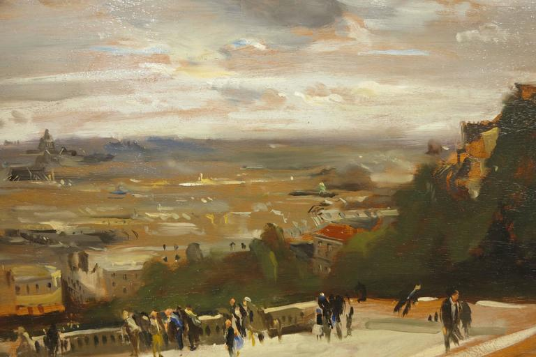 View from Sacre Coeur - Painting by David Levine