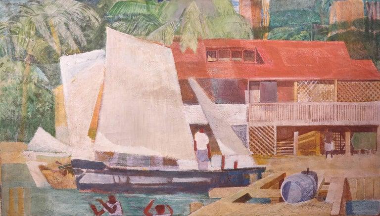 George Mathews Harding Landscape Painting - Vella Lavella