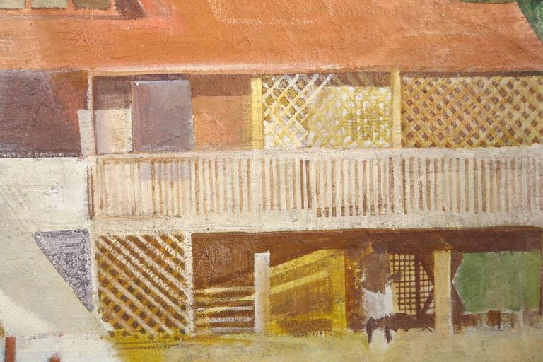 Vella Lavella - Brown Landscape Painting by George Mathews Harding