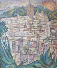 View of San Miguel de Allende (Mexico landscape painting)