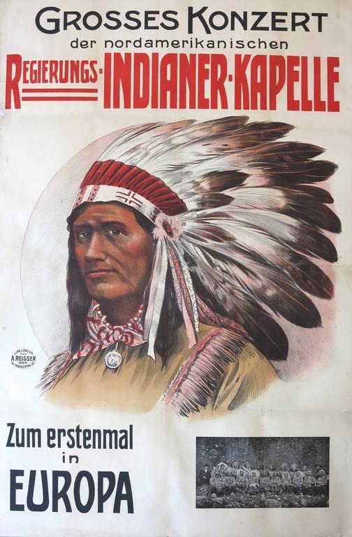 44f299c1d6f Unknown. Indianer-Kapelle c.1910 Vienna Austria Native American Indian  poster
