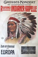 Indianer-Kapelle c.1910 Vienna Austria Native American Indian poster