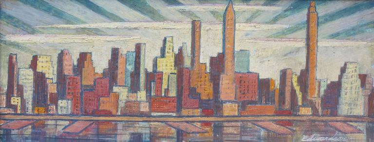 Laurence Edwardson Abstract Painting - Skyline