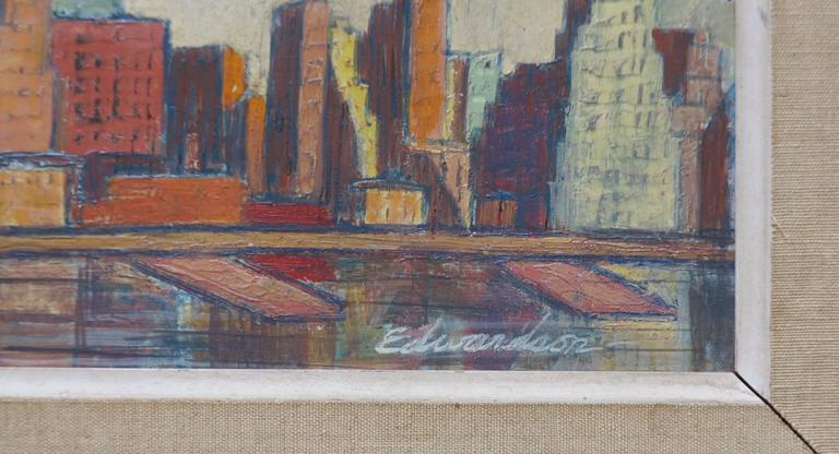 Skyline - American Modern Painting by Laurence Edwardson