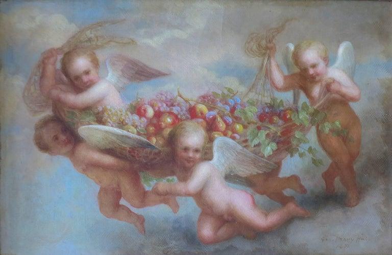 George Henry Hall Nude Painting - Cherubs