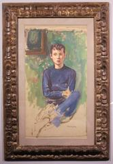 Portrait of Young Man in Blue