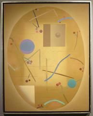Untitled (Minimalist geometric Japanese abstract painting)