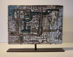 Untitled (Geometric abstract glazed tile sculpture)