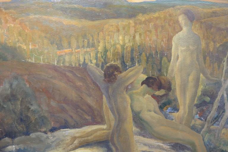 Anders Johansen - Arcadian Landscape Art Deco Sunrise -4577