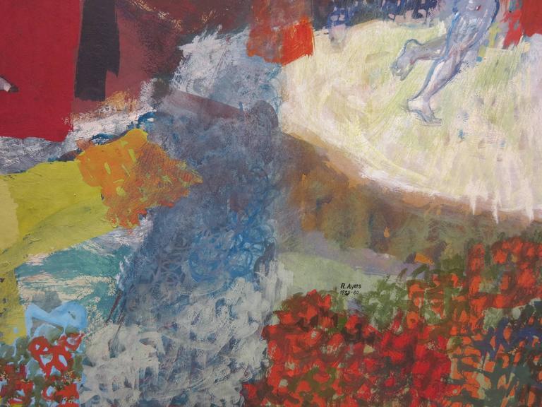 Flight: African American artist surrealist landscape For Sale 1