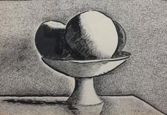 Still Life (New Hope Mid-century Modernist drawing)