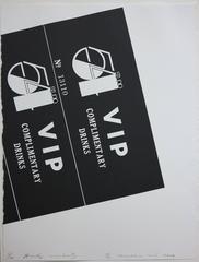 Studio 54 Drink Invitation (Pop Art litho Earl McGrath provenance)