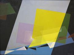 Alfred D. Crimi - Eye and the Shutter (geometric abstract cubist painting)