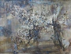 Fetes (Los Angeles Abstract Expressionist oil painting)