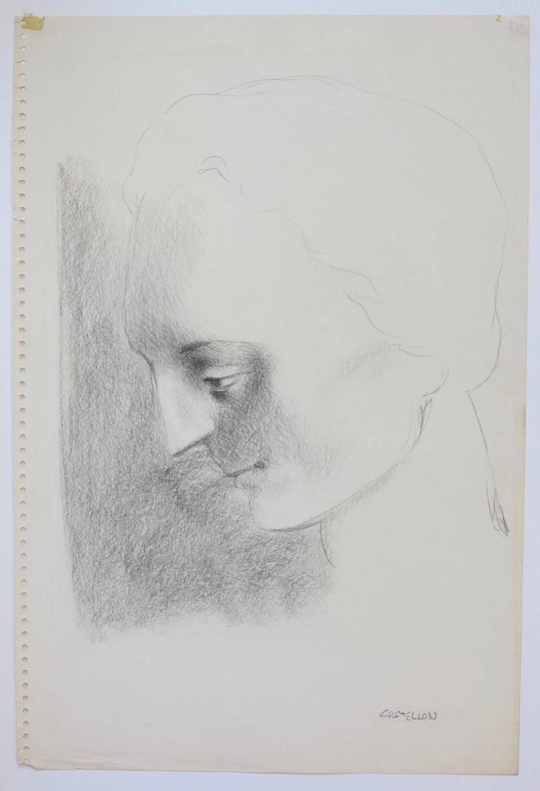 Federico Castellon Portrait - Classical Female Head (woman portrait)