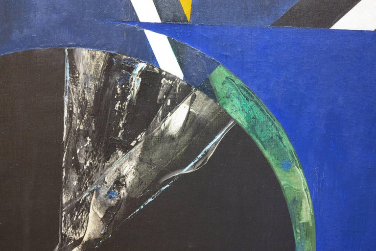 Untitled Blue Abstract - Abstract Expressionist Painting by Budd Hopkins