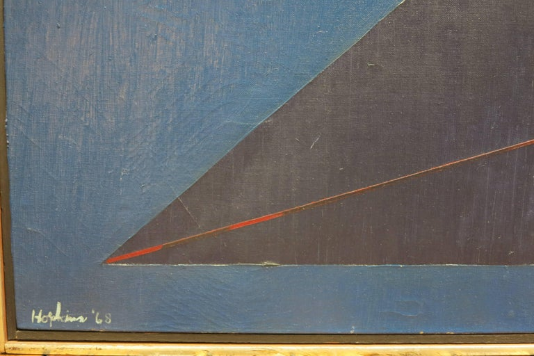 Budd Hopkins (1931-2011).  Abstract, 1968. Oil on canvas, 52 x 71 inches; 54 x 73 inches framed. Signed and dated lower margin. Provenance: Timothy Collins (1940-2017), Palo Alto, CA.  Biography:  Birth place: Wheeling, WV  Addresses: