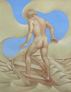 Study for Rocking the Boat (male nude)