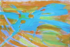 Untitled (Abstract Expressionist mid-century gestural action painting)