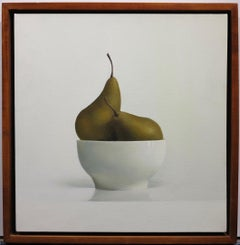 On White #3 (Pears Still Life fruit painting)