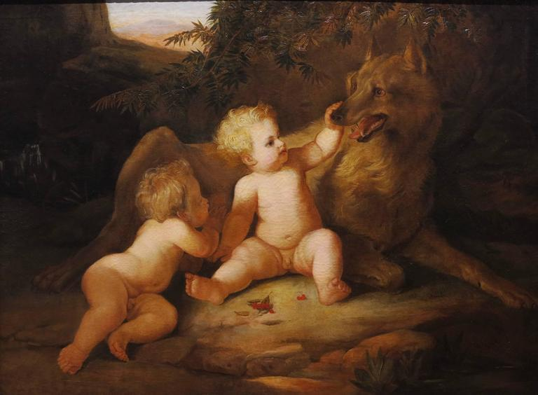 Romulus and Remus 18th century Origin of Rome oil painting