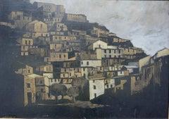 City & Trees (Mid-century Italian landscape painting)