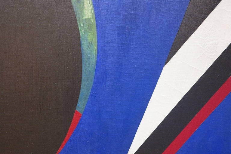 Untitled Blue Abstract For Sale 1
