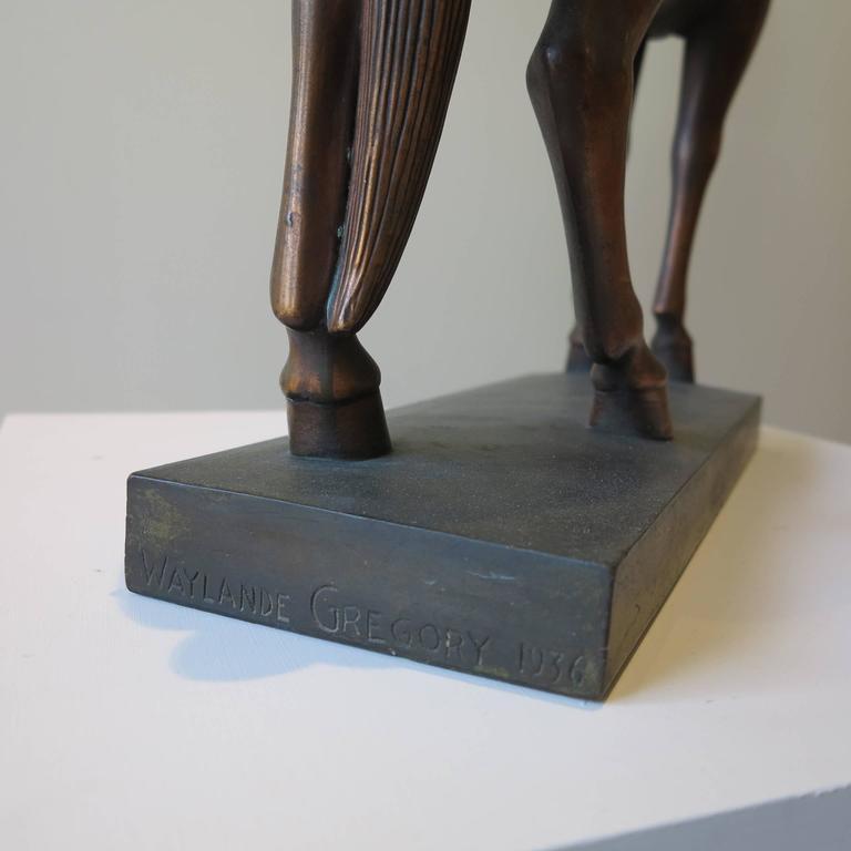 Horse - Gray Figurative Sculpture by Waylande Desantis Gregory