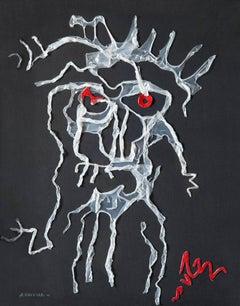 Ezra Pound - Surrealist Drawing Made With Melted Polyethylene