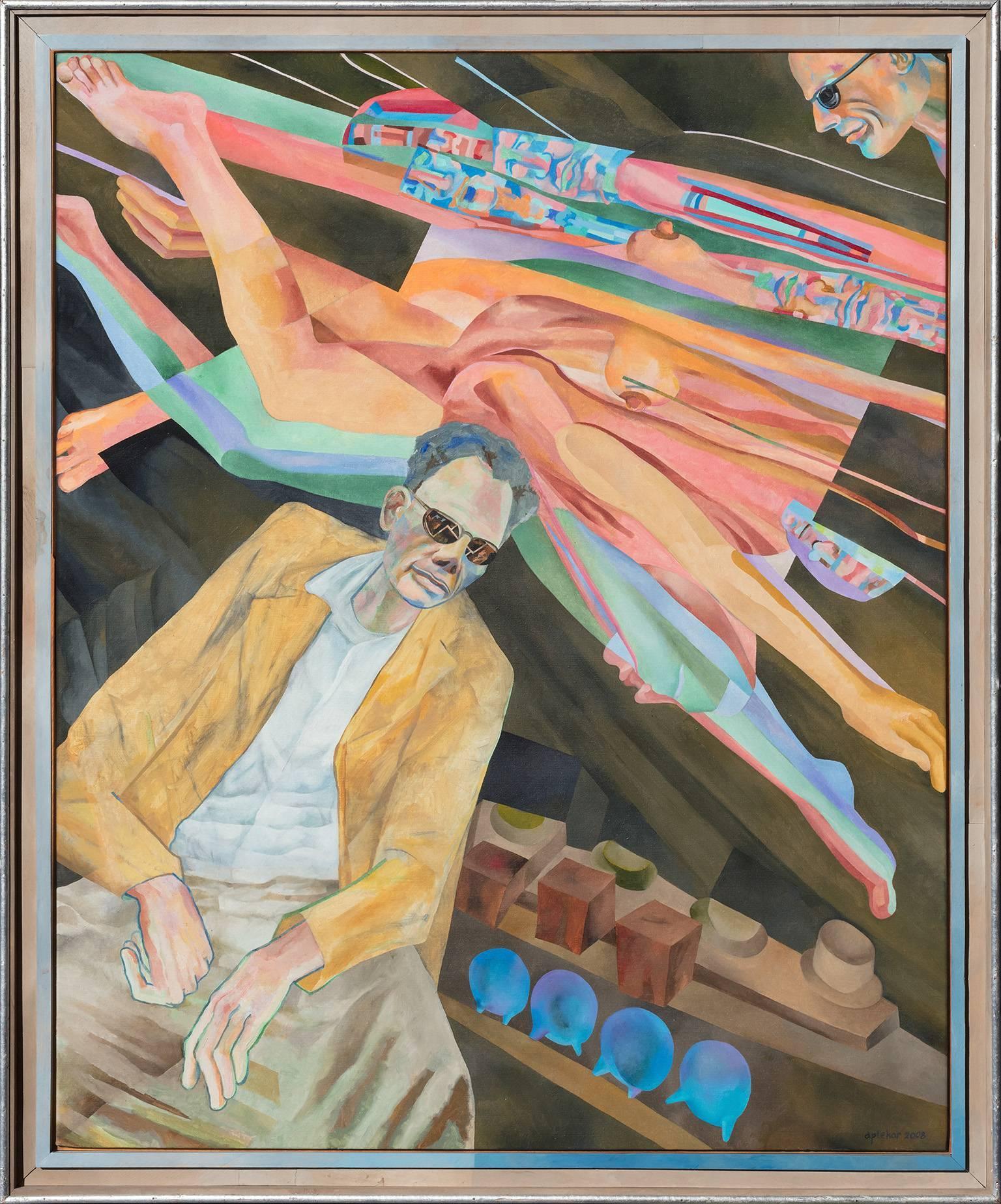 Arthur Miller Thinks - Expressionist Figurative Painting of Arthur Miller
