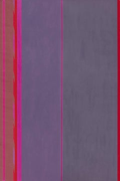 Beginning - Historic Purple Color Field Oil Painting