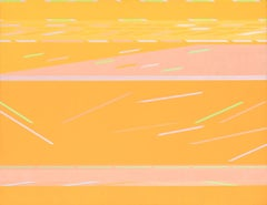 Yellow Flight - Historic Yellow Geometric Abstract Oil Painting