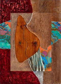 History of Textures - Wood Inlaying Painting with Oil Paint Abstraction