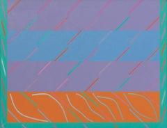 """San Anton Rock"" - Large historic Geometric Abstract Oil Painting"