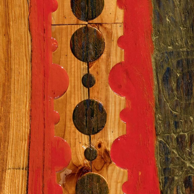 Episodes on Wood I - Abstract Mixed Media Art by Gian Berto Vanni