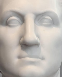 F006, American, Marble - Close-Up Photograph of aMarble Sculpture of a Man