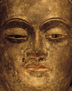 F008, Chinese, Lacquered Wood - Close-Up Photograph of a Sculpture of Buddha