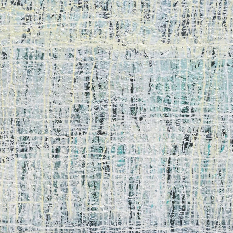 Linear Mystery in White - Abstract Painting by Heidi Thompson