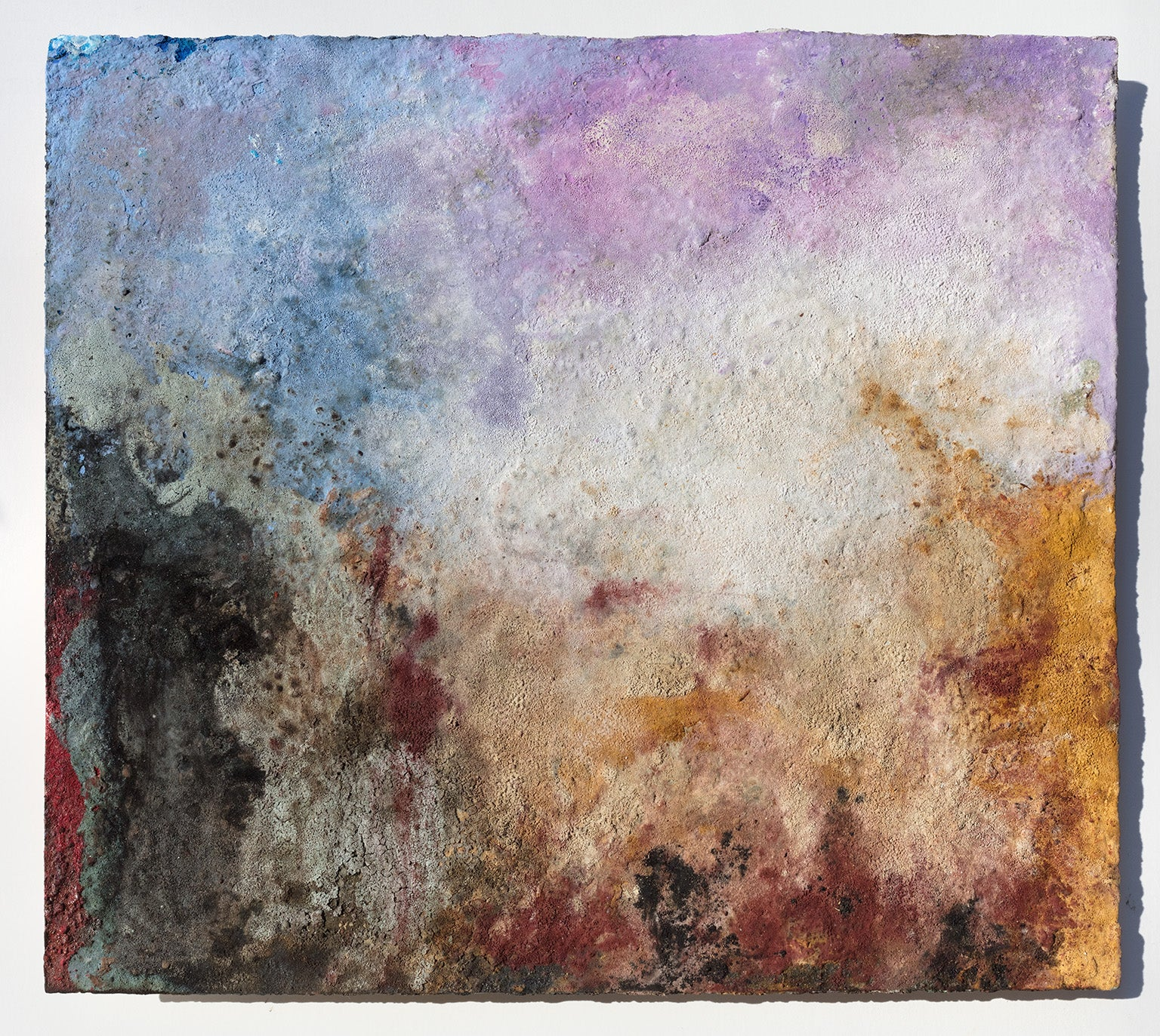 Terra Bruciata (Scorched Earth) #57 - Small Purple and Blue Abstract Landscape