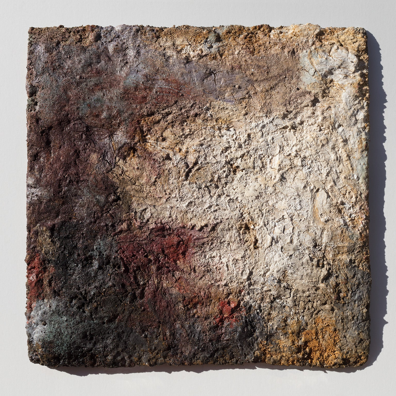 Terra Bruciata (Scorched Earth) - Small Abstract Painting with Earth Colors