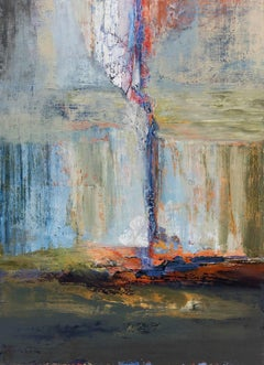 Acadian Driftwood - Large Abstract Landscape Painting With Blue and Green Colors