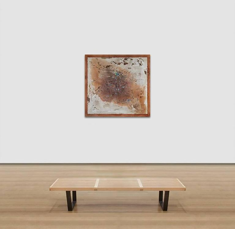 From Magma, Life - Abstract Oil Painting with Brown and Beige Colors For Sale 2