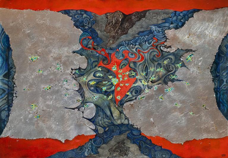 Gian Berto Vanni Abstract Painting - Phantasmagoria
