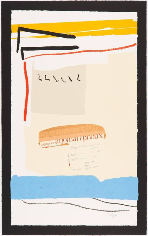 America - La France Variations III - Print by Robert Motherwell