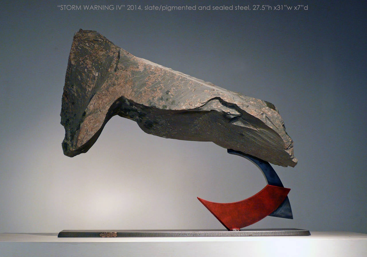 John Van Alstine Abstract Sculpture - Stormwarning IV