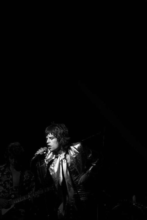 James Fortune Black and White Photograph - Mick Jagger 1972