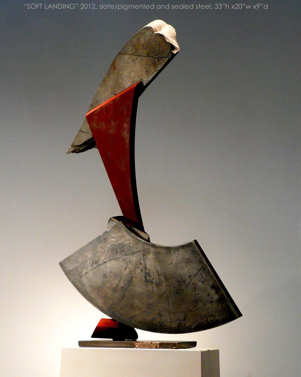 Soft Landing - Sculpture by John Van Alstine